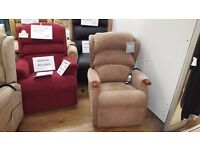 Ex-Display Petite Sized HSL Linton Dual Motor Riser Recliner Chair, Delivery Available