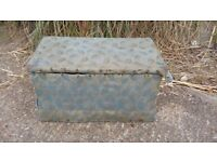 Vintage Victorian Ottoman Trunk Pine Box.
