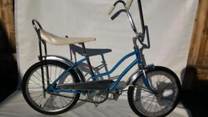 "1970 Banana Seat Bike 20 inch  junior 1 Speed IVERSON Vintage Beach Cruiser Bike height: 4'0"" to 5""JUST LIKE NEW"