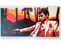 Scarface Canvas Print by George Ioannou. Rare and collectable giclée print 56x28in