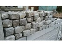 Reclaimed granite setts