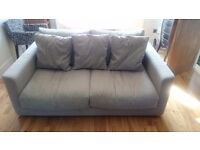 Habitat grey 3 seater sofa