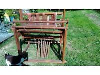 4 shaft weaving loom