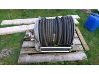 Fire hose pump reel