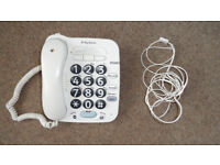 BT Big Button 100 landline telephone with quickdials and hands free