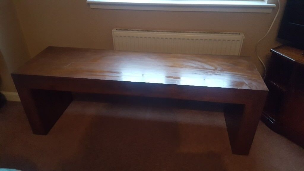 Large Solid Wood Coffee Table Side Unit In Dalkeith