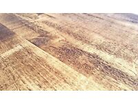 Pine Kitchen Dining Reclaimed Style Rustic Tapered Leg Farmhouse Table - Any Size, Any Colour!
