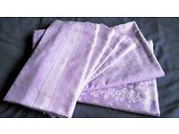 Damask Purple Floral Bedding 2x Duvet + 4x Pillow cases