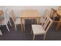 Ex Display John Lewis Alba Dining Table & 4 Julian Bowen Rufford Chairs Can Del Nottingham NG157