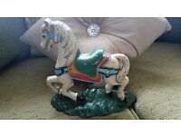 PAST CLASSICS DOOR STOP CAST IRON CAROUSEL HORSE