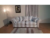 Ex-display Lansdowne fabric large 4 seater sofa with scatter cushions