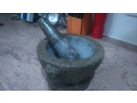 Solid granite Mortar and Pestle