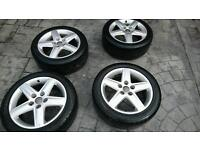 Audi sport, vw transporter alloy wheels and tyres 17 inch