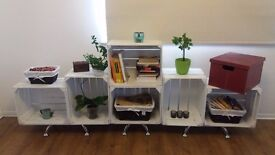 Furniture From Recycled Wooden Crates. Shelves and Coffee table!