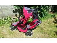 Phil and Ted Sport Double Buggy Red