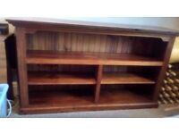 Solid wood sturdy bookcase