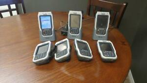 LOT OF 7 Intermec CN2B Mobile Computer Barcode Scanner with stand