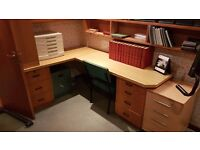 Cupboards, desks, drawer units- Fitted