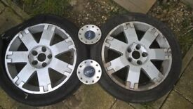 1 Ford Alloy with Tyre will fit Mondeo Transit S Max 17 inch 1 with matching centre hub cap