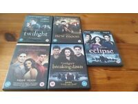 Twilight 1 to 5 DVDs