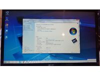 ACER 7736 4GB RAM 160 HARD DRIVE 17.3 INCH WINDOWS 7 64 BIT COME WITH CHARGER NEW BATERRY WEBCAM.