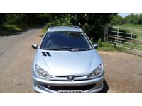 2005, 55 plate, Peugeot 206 verve 1.4 HDI SW