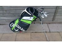 Calaway bag with left hand iron clubs rac by tylormade, 2 willsilon staf! Can deliver or post