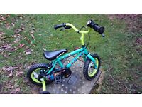 Apollo Marvin the Monkey Kids Bike - 12 inch. Includes matching helmet, knee pads, and elbow pads