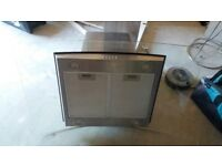 Extractor hood for island unit,curved glass, CDA-Model ECPK 09 SS/1 ,90cm x 60cm