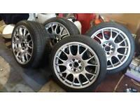 "Genuine BBS CH 5x112 8.5""x18 + tyres"
