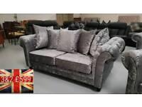 Brand new Monaco silver 3&2 seater sofas free delivery 07808222995