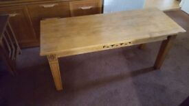 Large wooden coffee table for sale