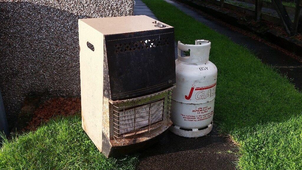 Valor Portable Gas Fire & Empty Bottle --- £10