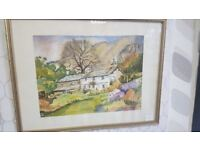 Unknown Artist Watercolour House On A Hill