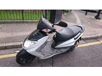 Yamaha Cygnus 125 White fuel efficient scooter 26K 2 keys MOT till 2018 new tyre logbook