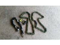 Lock chain for motorbike motorcycle quad bike
