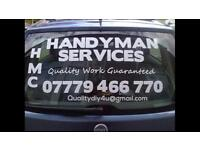 HMC Handyman Services, TV's wall mounted, wallpapering, painting, laminate flooring