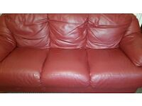 3 seater leather sofa. Good condition