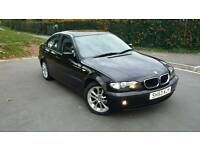 2003 BMW 316i SE 4DR. BLACK UNMARKED LEATHERS, FULL MOT, IMMACULATE CONDITION.