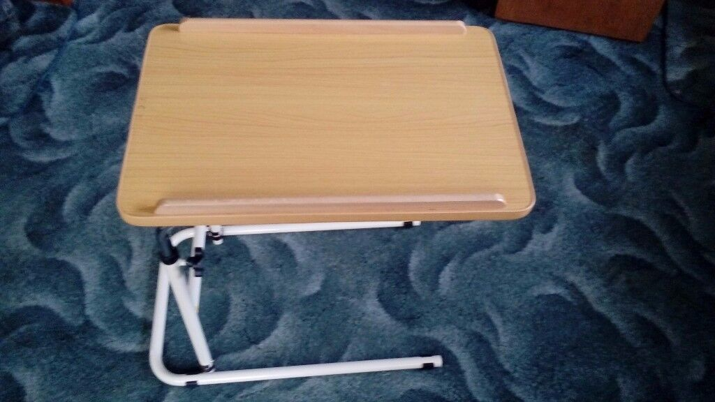 Over bed adjustable table