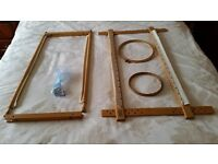 TAPESTRY FRAMES AND WOOLS