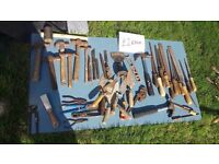 **HAND TOOLS**£2 EACH**HAMMERS**BOLSTERS**LEVELS**SPANNERS**PLIERS**ETC**SCREWDRIVERS**