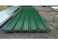 brand new 10ft long juniper green polyester coated box profile roofing sheets 32/1000