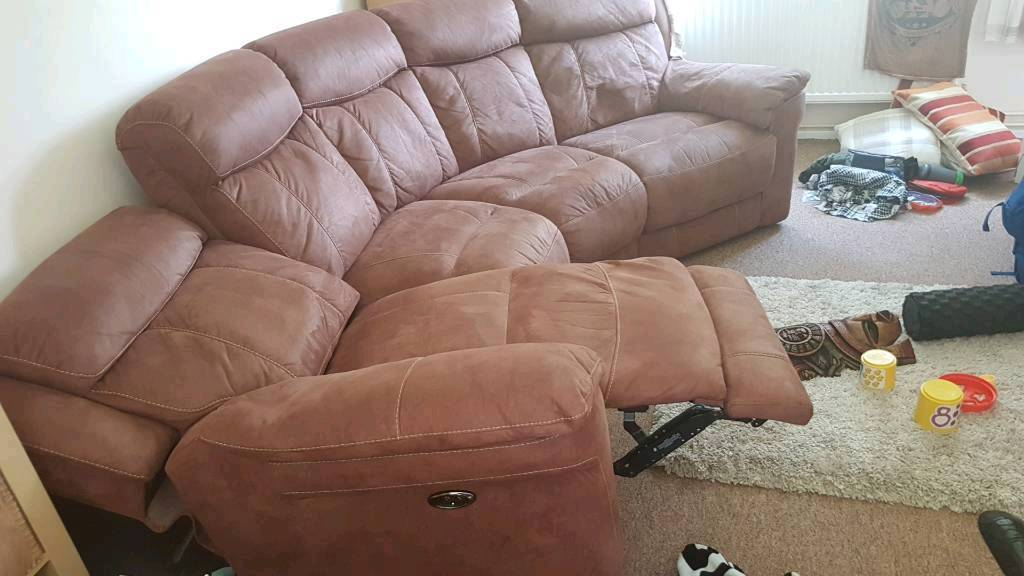 Double Electric recliner sofa lazy boy
