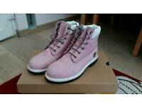 Junior Pink/Lilac Timberland Boots