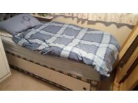 Single bed and mattress with free duvet