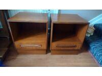 G plan . Vintage .bedside cabinets. Been REDUCED.£ 128.00