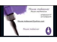 House makeover provides all house maintenance job including paint and decoration.