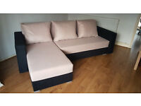 Corner sofa bed. Brand new. Peachy colour // free delivery