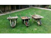 3 Wheel barrows
